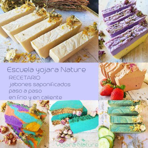 curso cosmetica natural, recetario de jabones saponificados paso a paso en frio y en caliente