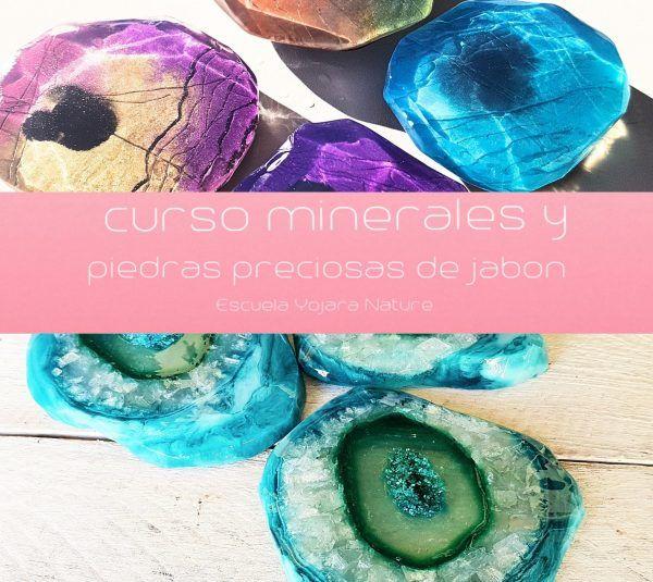curso cosmetica natural, Curso minerales y priedras preciosas de jabon