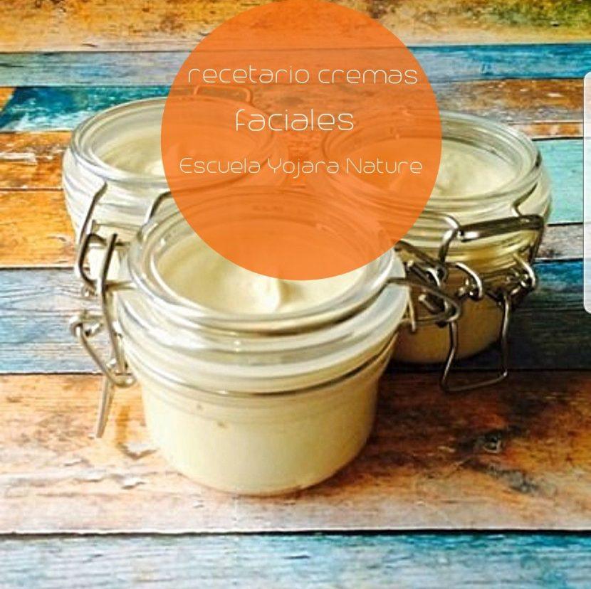 curso cosmetica natural, recetario cremas faciales