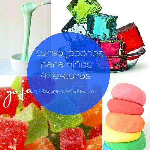 curso cosmetica natural, curso jabones para niños 4 texturas