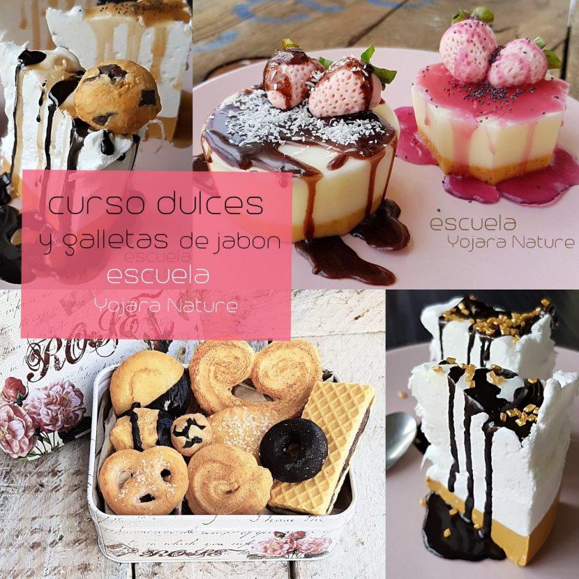 Curso cosmetica natural, dulces y galletas de jabon