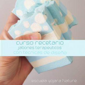 Curso recetario jabones terapéuticos con técnicas de diseño decorativo en el jabón